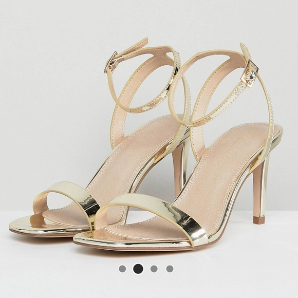 86bcdd761550 ASOS Shoes - ASOS Half Time Heeled T Strap Sandal Size 6.5